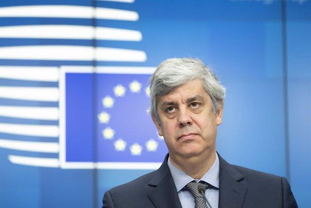 """UE.- Centeno afirma que dejará el Eurogrupo """"en buenas manos"""" gane quien gane"""