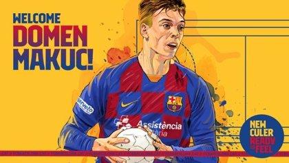 El Barça incorpora al joven central Domen Makuc hasta 2024
