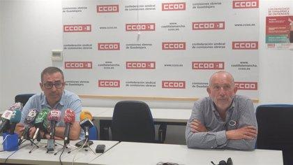 CCOO alerta de que Guadalajara es la provincia de la región con mayor desempleo a causa del COVID-19