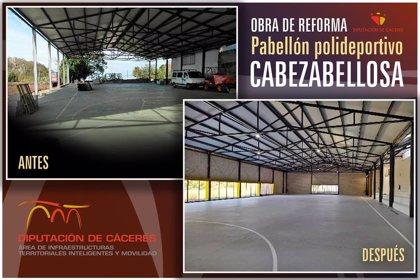 La Diputación de Cáceres adecúa el polideportivo de Cabezabellosa para uso cultural con una inversión de 101.000 euros