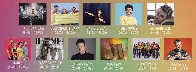 Cartell del Girona Music Festival 2020.