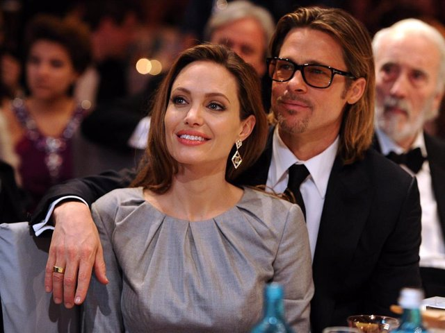 Angelina Jolie and Brad Pitt attend the Cinema for Peace Gala ceremony at the Konzerthaus Am Gendarmenmarkt during day five of the 62nd Berlin International Film Festival  on February 13, 2012 in Berlin, Germany.