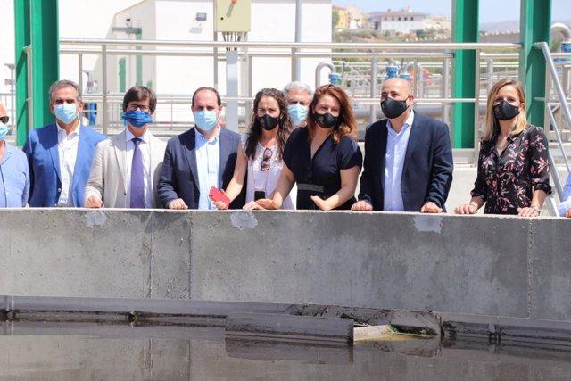 La consejera de Agricultura asiste a la inauguración de la EDAR de Huércal-Overa (Almería)