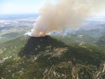 Emergencias pide aviones anfibios al Ministerio para el incendio forestal del Cerro Gordo de Caravaca