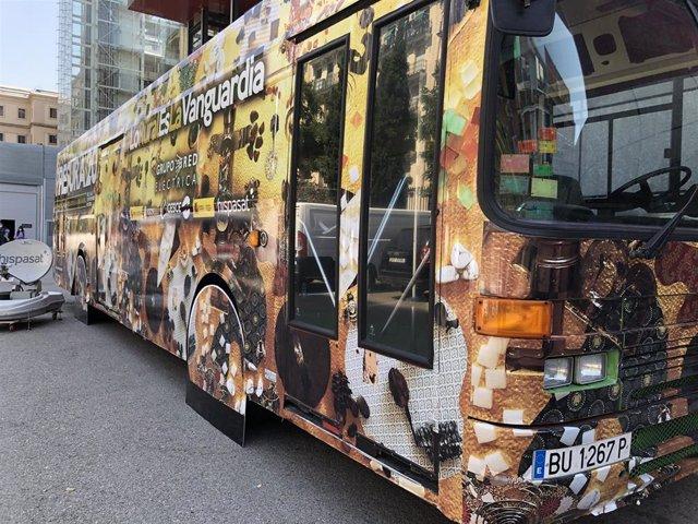 Imagen del Autobús de la Repoblación, que efectuará sendas paradas en Sangüesa y Arróniz