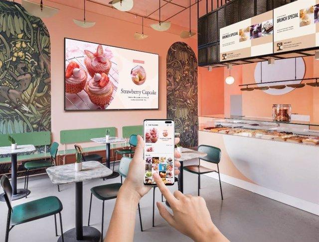 Samsung presenta una nueva gama de televisores para empresas