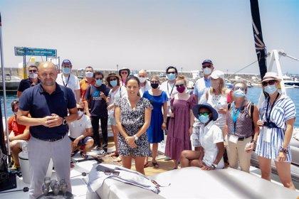 Una expedición de la OMT recorre el sur de Gran Canaria en su visita para avalar la seguridad del destino