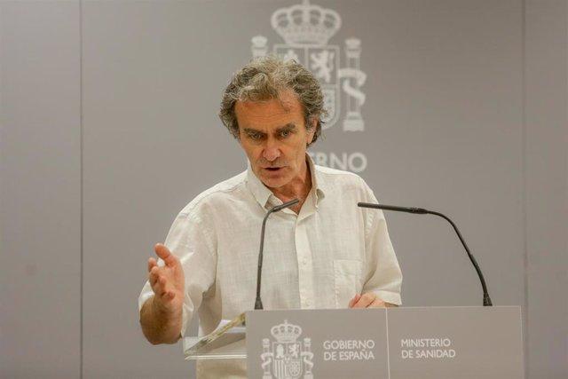 El director del Centro de Coordinación de Alertas y Emergencias Sanitarias (CCAES), Fernando Simón,