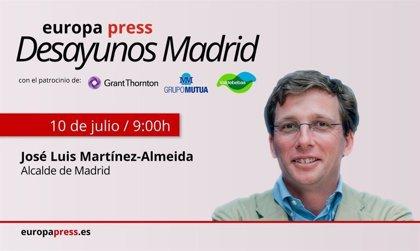 José Luis Martínez-Almeida protagoniza este viernes la primera edición de Desayunos Madrid organizados por Europa Press