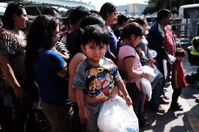 Migrantes centroamericanos en Estados Unidos (Imagen de archivo)