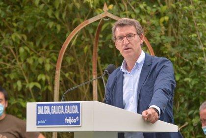 """Feijóo llama a dar """"una lección de democracia"""" yendo a votar para mostrar que el pueblo gallego """"no tiene miedo"""""""