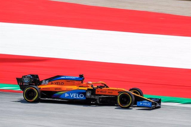 """Fórmula 1/GP Estiria.- Carlos Sainz: """"Estoy contento de poder luchar con los Fer"""