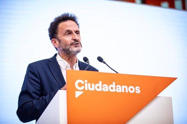 El portavoz adjunto de Ciudadanos en el Congreso Edmundo Bal, en una rueda de prensa en la sede del partido en Madrid