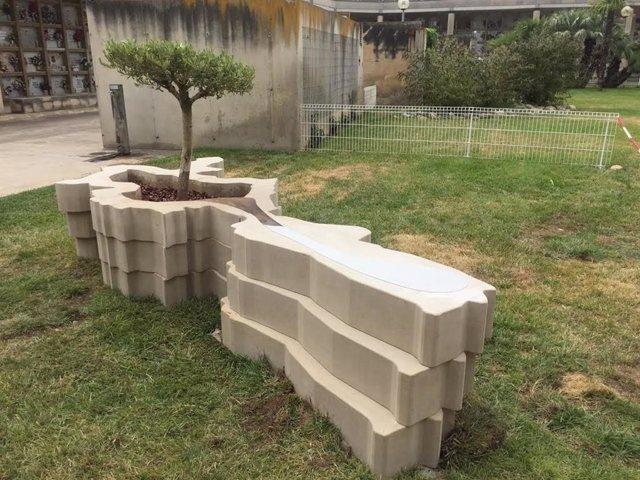 Escultura para recordar en homenaje a los leridanos muertos durante el confinamiento