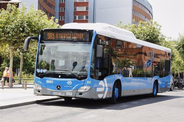 'EMT Smart Bus Madrid' nuevo autobús a demanda que ha lanzado hoy la EMT, sale del hospital 12 de Octubre, en Madrid (España), a 9 de julio de 2020.