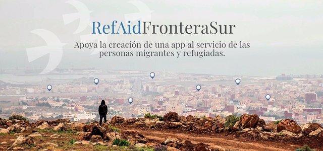 El proyecto '#RefAidFronteraSur' busca fondos para lanzar una app al servicio de las personas migrantes y refugiadas