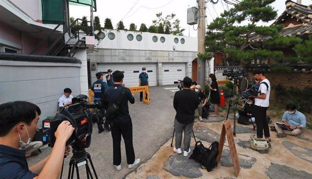 Residencia del alcalde de Seúl, acordonada por la Policía