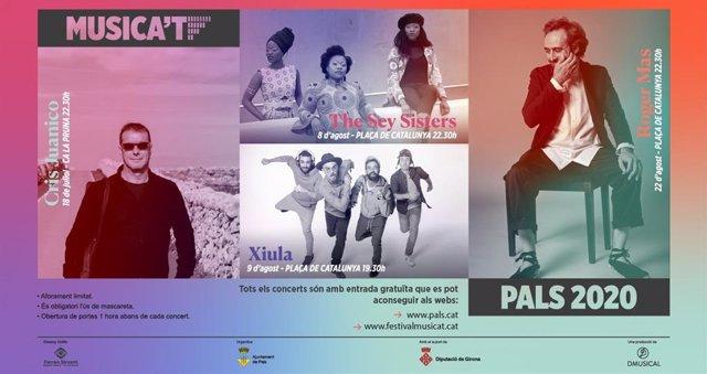 Cartel del Festival Musica't de Pals, en Girona