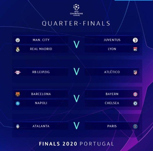 AV.- Fútbol/Champions.- El Atlético de Madrid se medirá con el Leipzig en cuarto