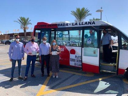 Servicio gratuito de autobús para acceder a las playas del Parque Regional Salinas y Arenales de San Pedro