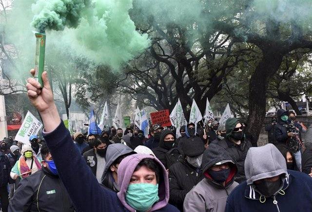 Protesta en la ciudad argentina de Córdoba durante la pandemia de coronavirus (Imagen de archivo)