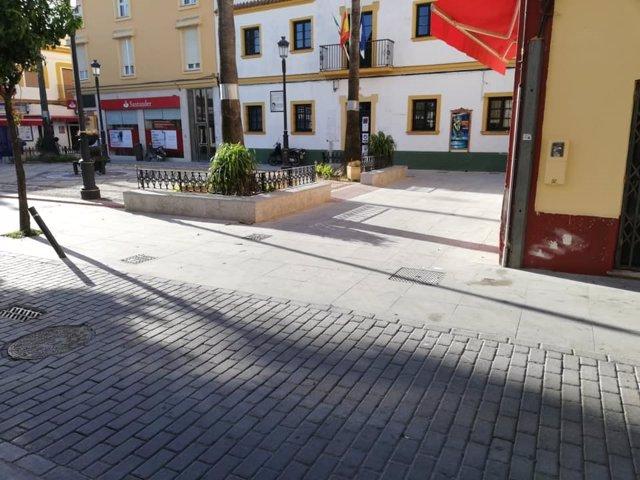 Plaza en Chipiona