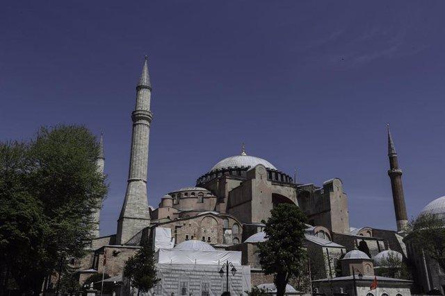 Vista del museo de Santa Sofía, en Estambul