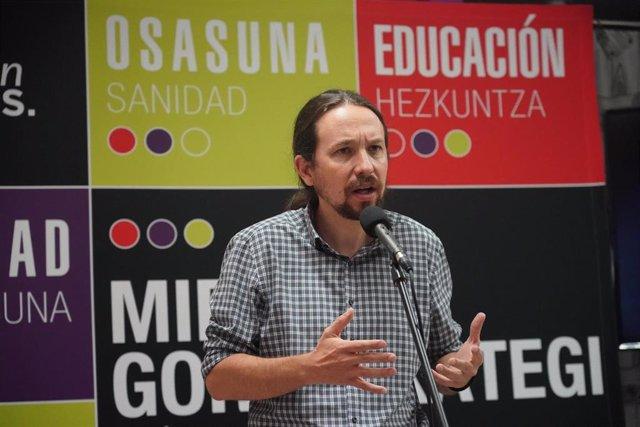 El secretario general de Podemos y vicepresidente segundo del Gobierno y ministro de Derechos Sociales y para la Agenda 2.030, Pablo Iglesias