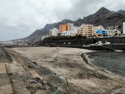 Cierran al baño por contaminación la playa de Bajamar, en La Laguna (Tenerife)