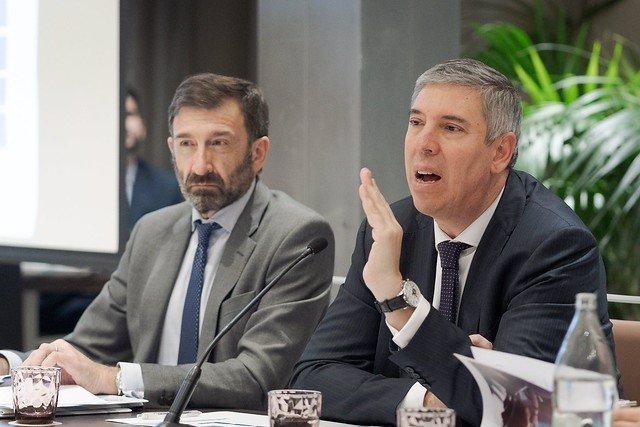 José López-Tafall, director general de Anfac (izquerda), y José Vicente de los Mozos, presidente de Anfac (derecha).