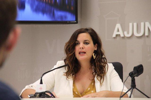 La vicealcaldesa de València, portavoz socialista en su ayuntamiento y secretaria general del PSPV-PSOE en la ciudad, Sandra Gómez.