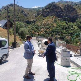 El director general de Administración Local, Joaquín López-Sidro, visita Quéntar (Granada)