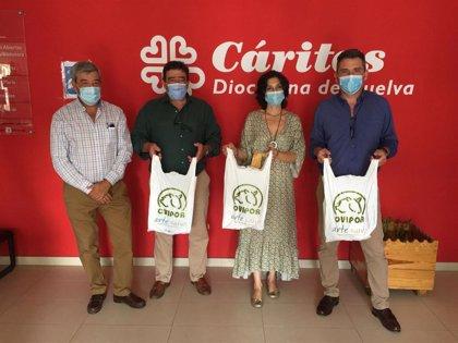 La Junta entrega a Cáritas de Huelva 150 kilos de carne de cordero proporcionada por Ovipor
