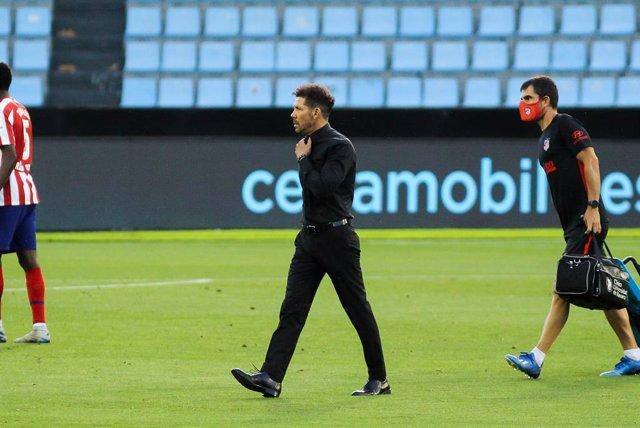 """Fútbol.- Simeone: """"La gente que exagera o desprestigia es la misma, yo me aíslo"""""""