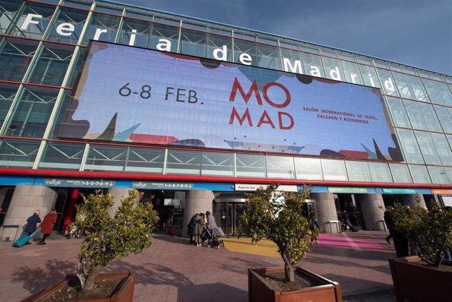 Imagen de recurso de la fachada de Feria de Madrid durante la celebración de Momad en febrero de 2020.