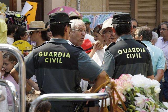 Imagen de recurso de agentes de Guardia Civil en labores de vigilancia.