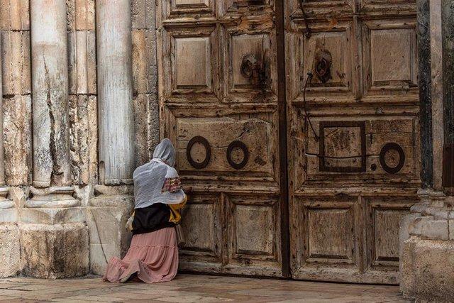 La Iglesia del Santo Sepulcro de Jerusalén durante la pandemia de coronavirus