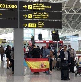 Vuelo de repatriación desde Argelia en una imagen de archivo.