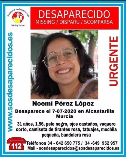 Buscan a una joven de 31 años desaparecida desde el martes en Alcantarilla