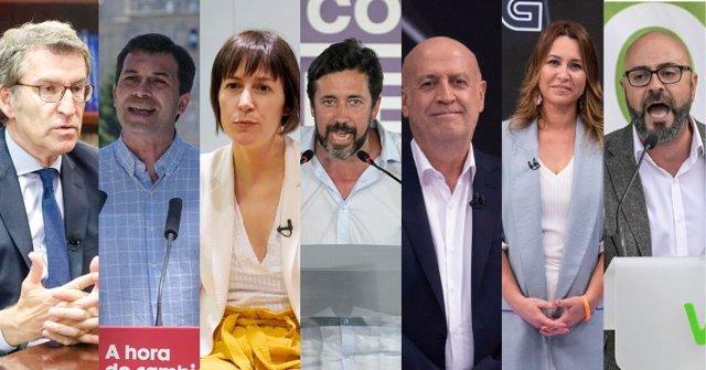 Candidatos a la Xunta para el 12J
