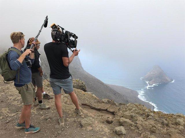 Rodaje de televisión en la costa de Santa Cruz de Tenerife