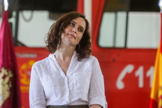 La presidenta de la Comunidad, Isabel Díaz Ayuso