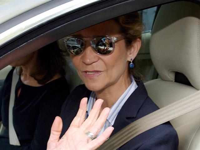 "Princess Elena of Spain attends the memorial service for Spanish businessman and President of ""El Corte Ingles"" Isidoro Alvarez at the Isidoro Alvarez Foundation on September 15, 2014 in Madrid, Spain."