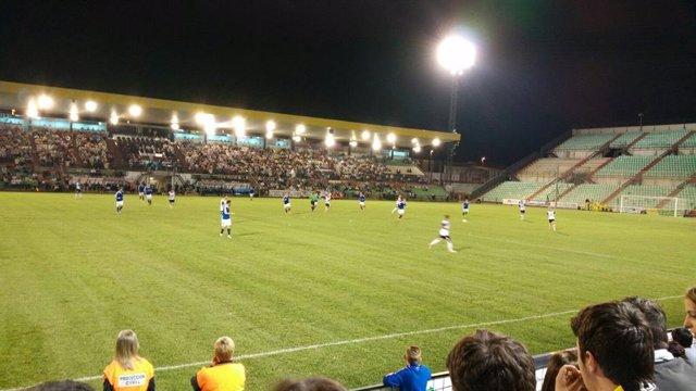Estadio Romano de Mérida, durante un partido.