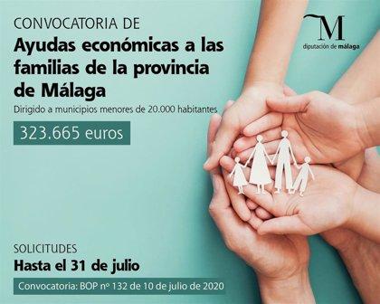 La Diputación de Málaga destina más de 320.000 euros para atender las necesidades básicas de las familias