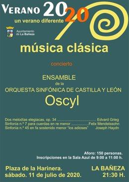 Cartel del concierto de la OSCYL.