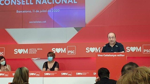 Miquel Iceta en el Consell Nacional del PSC