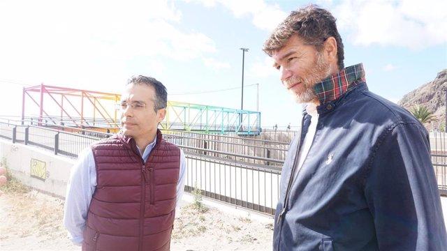 Guillermo Díaz Guerra y Carlos Tarife, concejales del PPen el Ayuntamiento de Santa Cruz de Tenerife