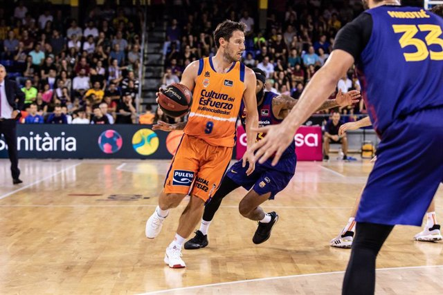 Sam Van Rossom en un Barça-Valencia Basket