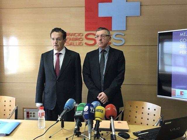 Julián Pérez Gil y Francisco Javier González, exaltos cargos del Servicio Cántabro de Salud (archivo)